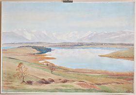 Carl Kessler (1876-1968) : Der Riegsee (bei Murnau). - Aquarell