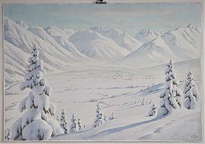 Carl Kessler (1876-1968) : Blick auf Oberstdorf (Allgäu)