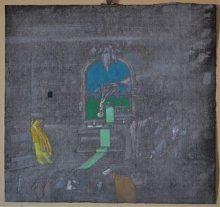 Surreale, blasphemische Szenerie in Kirchenraum