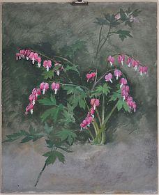 Carl Kessler (1876-1968) : Blumenstudie. - Öl/Hartpappe