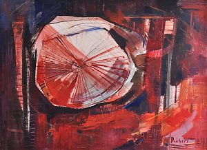 Willy Reichert *1937 München, lebt und arbeitet in Wasserburg am Inn. - Rotrotation / Öl/Hartfaser, 1964 // Buch- und Kunst-Antiquariat Joseph Steutzger / www.steutzger.de