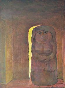 "Kunt in Wasserburg am Inn // Rudolf Englberger (1908 - Wasserburg - 1985) : ""Geheimer Gang"". - Öl/Hartfaser. - Kunsthandel Joseph Steutzger / www.steutzger.de"